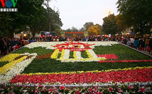 Flower street in Hanoi