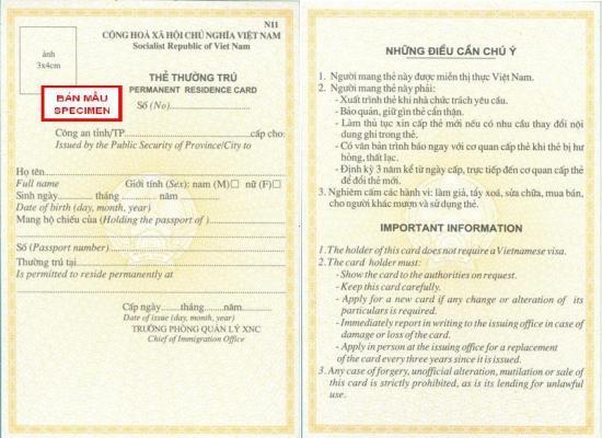 Một số điểm về thẻ thường trú, thẻ tạm trú quy định trong Luật số 47/2014/QH13