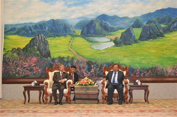 Đoàn Ủy ban Kiểm tra Trung ương thăm và làm việc tại CHDCND Lào