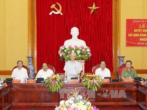 Lần đầu tiên, Tổng Bí thư Đảng Cộng sản Việt Nam tham gia Đảng ủy Công an Trung ương