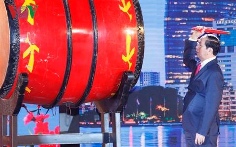 Chủ tịch nước Trần Đại Quang dự chương trình nghệ thuật Xuân Quê hương 2017