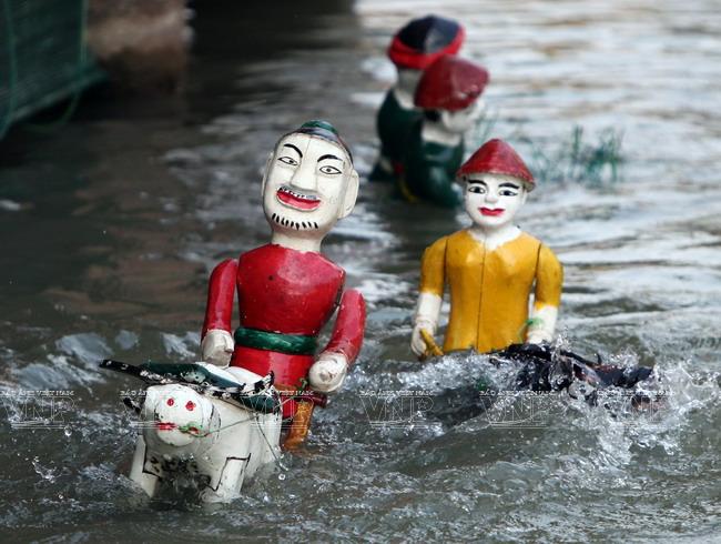 Độc đáo rối nước làng Đào Thục, huyện Đông Anh, Hà Nội