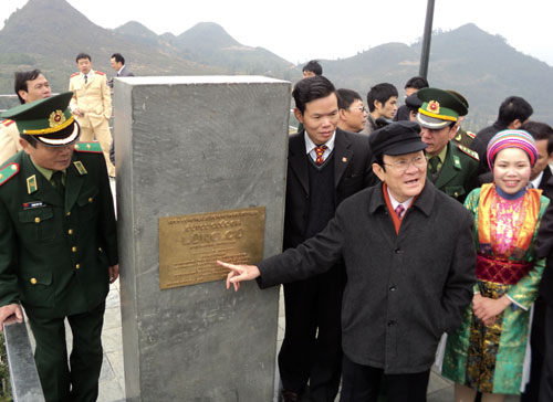 President Truong Tan Sang pays working visit to Ha Giang province