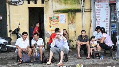 Sidewalk cafe- an ancient Hanoi tradition