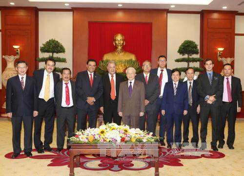 Party General Secretary receives Mexican Labor Party delegation