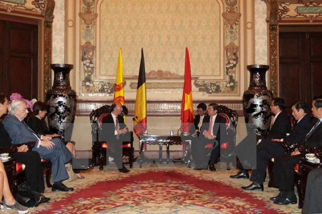 HCMC leader receives Wallonie-Bruxelles Minister-President