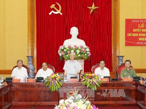 Party leader becomes member of Police Party Central Committee for the first time