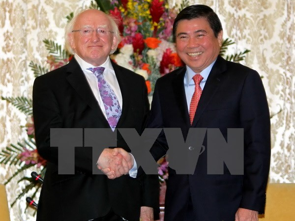 Ho Chi Minh City leader receives Irish President