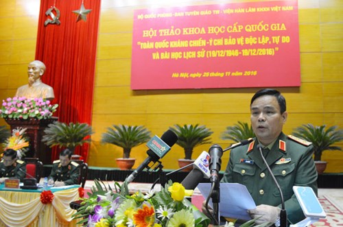 11/25/2016 - 19:25   (VOVworld) – The Ministry of National Defense, the Party Central Committee's Commission for Communications and Education, and the Vietnam Academy for Social Sciences hosted a symposium in Hanoi on Friday.    More
