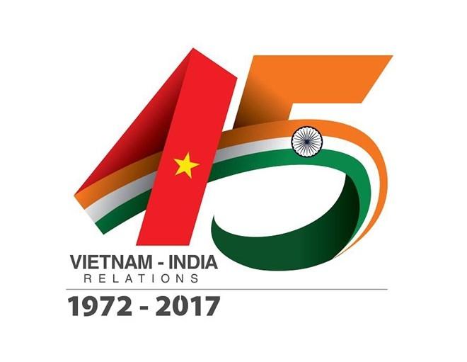 Logo of 45th anniversary of Vietnam-India diplomatic ties