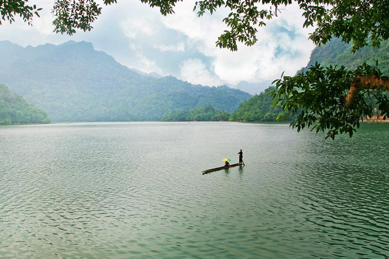 Beautiful scenery at Ba Be Lake
