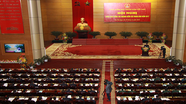 President Tran Dai Quang attends procuracy sector's year-end meeting