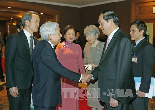 Japan Emperor, Empress leave Hanoi for Hue