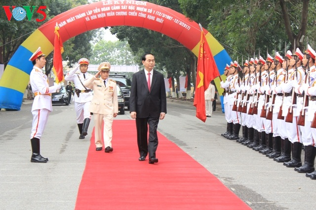 President attends 20th anniversary ceremony of Special Police Battalion No1