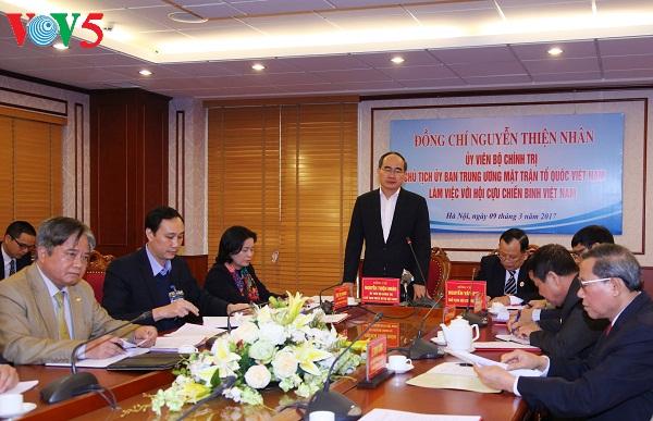 Vietnam War Veterans' Association promotes patriotism, national unity