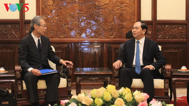 President Tran Dai Quang receives President, Editor-in-Chief of Kyodo News