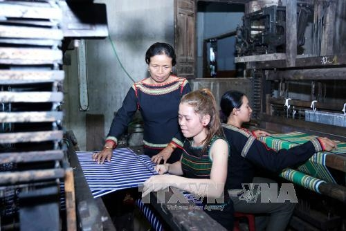 埃德族传统纺织业的守护者