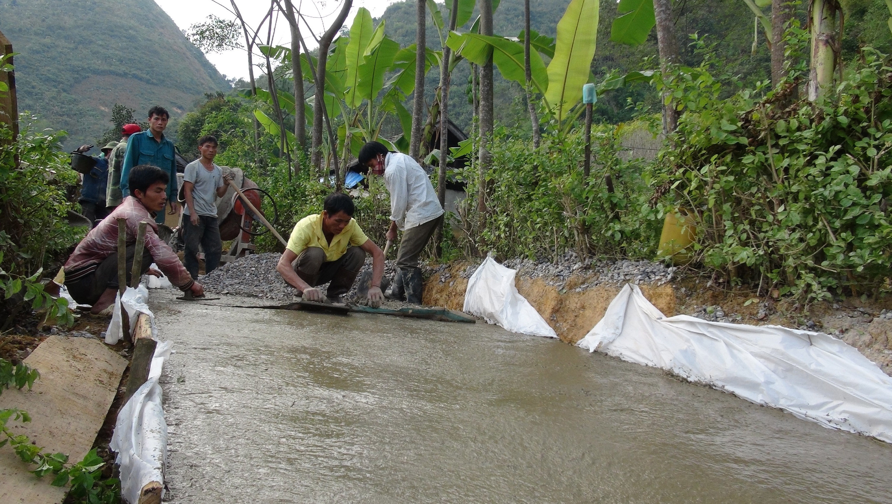 Ban Giang, ejemplo brillante en la carrera de construcción rural