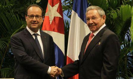 Visita presidente cubano Francia