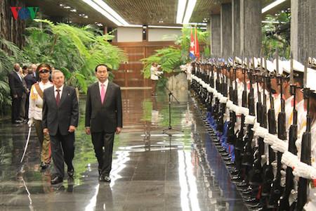 Presidente vietnamita Tran Dai Quang en visita en Cuba