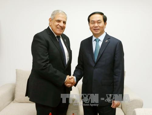 Presidente vietnamita realiza encuentros bilaterales con líderes en Cumbre de la Francofonía