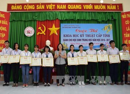 Estimulantes resultados de Ciencia y Técnica para estudiantes en Dong Thap