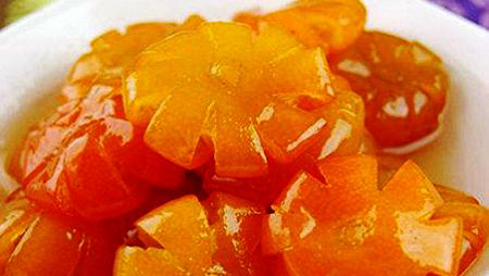 Fruta de kumquat confitada para el Tet tradicional de Vietnam