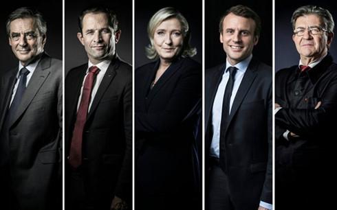 Candidatos presidenciales de Francia se miden en primer debate directo