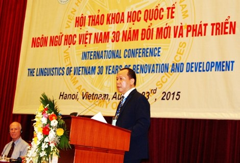 8/23/2015 - 15:42   (VOVworld) – On Sunday, the Vietnam Institute of Linguistics – the Vietnam Academy of Social Sciences held the 2nd international conference to review 30 years of renovation and development of Vietnam's linguistics.    More