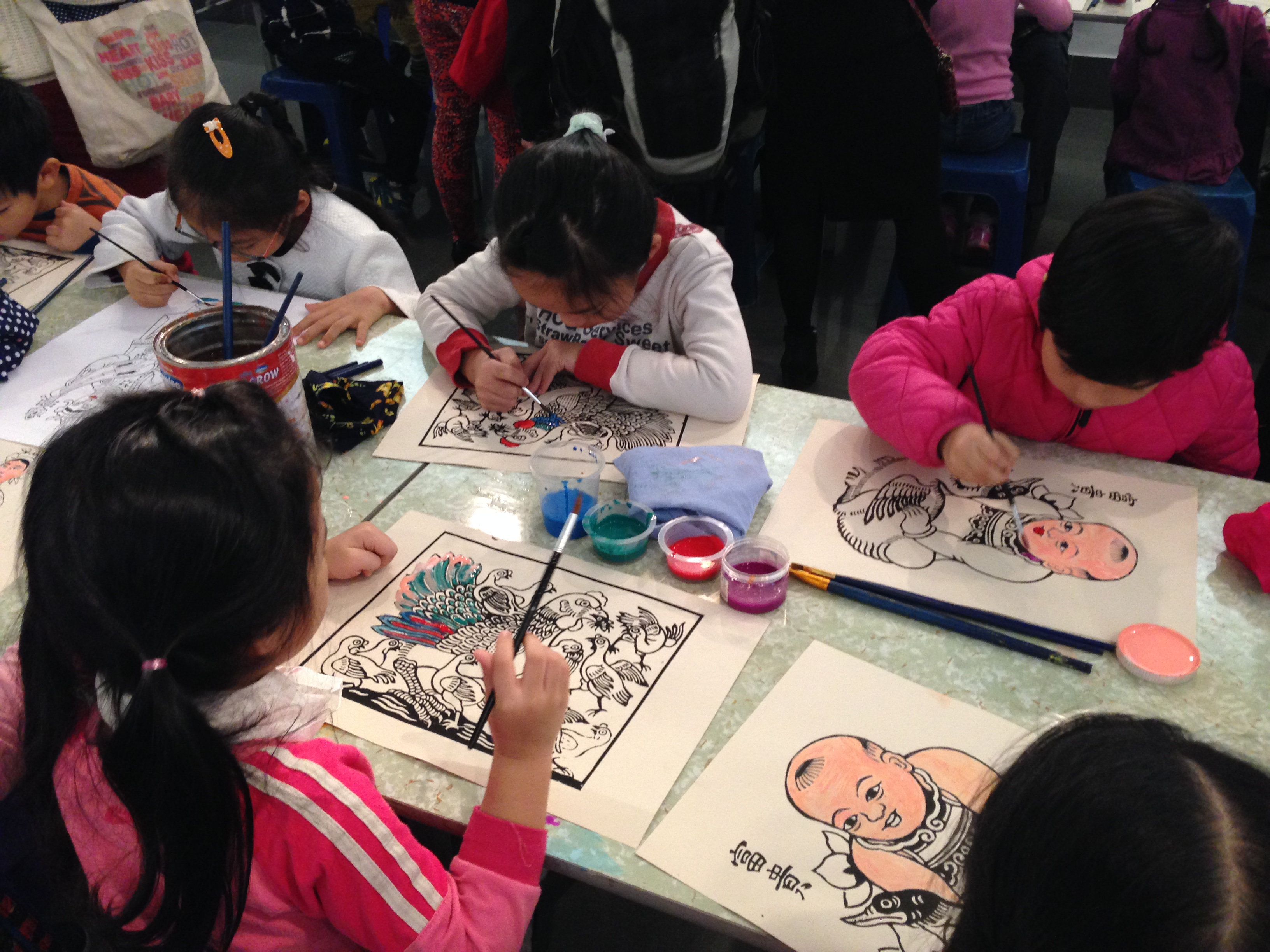 "Program ""Explore and create Tet paintings with children"""