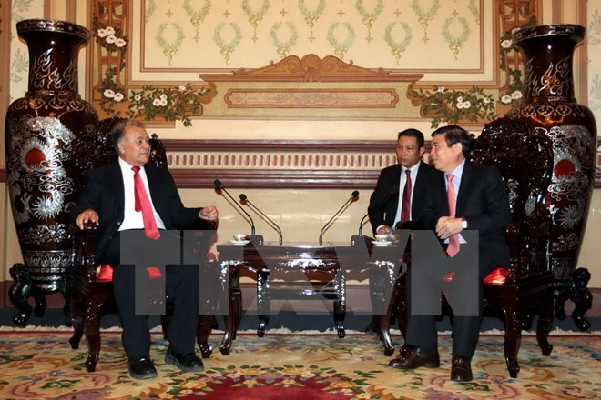 Chairman of Ho Chi Minh City People's Committee receives Mexico's Labor Party General Secretary