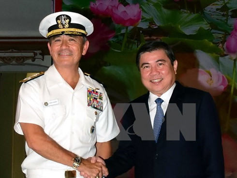 Ho Chi Minh City's leader receives Commander of the US Pacific Command