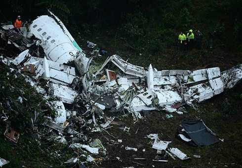 Colombia plane crash: flight runs out of fuel