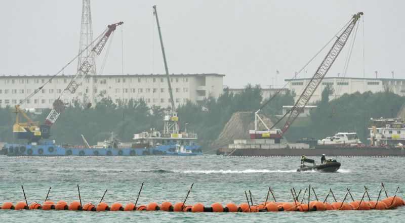 Offshore work begins on relocating US base on Okinawa