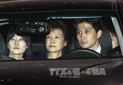 South Korea's ex-president arrested on corruption charges