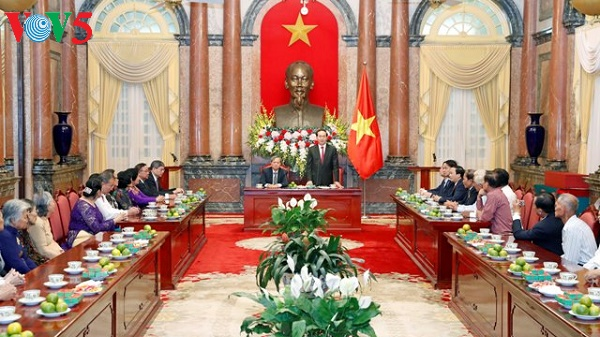 President Tran Dai Quang receives former Sai Gon-Gia Dinh security agents