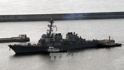 South Korea, US hold joint naval drills