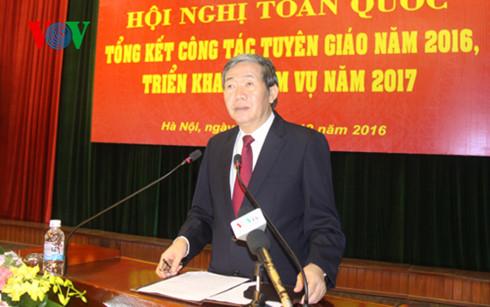 Hội nghị tổng kết công tác tuyên giáo năm 2016