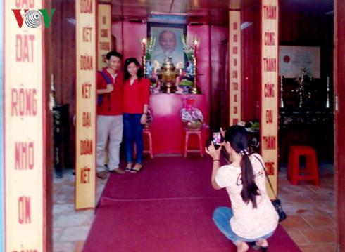 Đền thờ Chủ tịch Hồ Chí Minh tại Trà Vinh đông khách viếng đầu Xuân