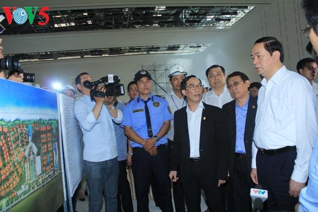 Chủ tịch nước Trần Đại Quang kiểm tra công tác chuẩn bị Tuần lễ Cấp cao APEC 2017 tại Đà Nẵng