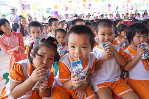 ประสิทธิภาพของโครงการดื่มนมสำหรับเด็กโรงเรียนอนุบาลในจังหวัดบั๊กนิงห์