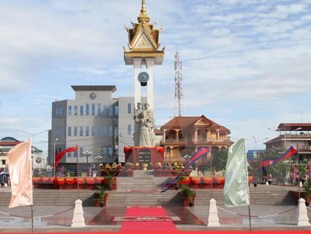 พิธีเปิดอนุสาวรีย์มิตรภาพเวียดนาม – กัมพูชาและอนุสาวรีย์เอกราชในจังหวัดกำปงชนัง