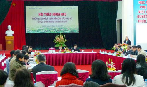 ปัญหาทฤษฎีงานด้านสตรีในสถานการณ์ใหม่ของเวียดนาม