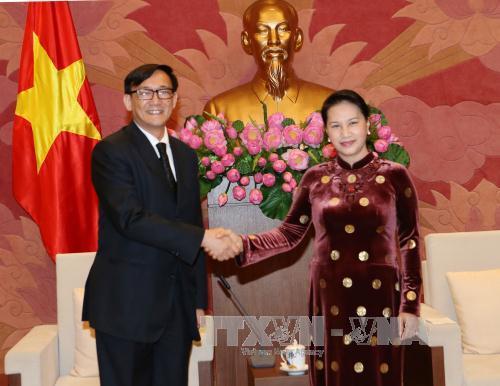 ประธานรัฐสภาเหงียนถิกิมเงินให้การต้อนรับเอกอัครราชทูตไทยประจำเวียดนาม