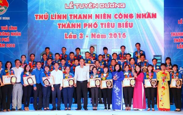 Tuyên dương 40 thủ lĩnh thanh niên công nhân thành phố Hồ Chí Minh