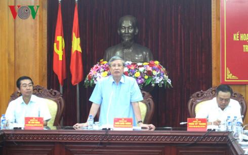 Chủ nhiệm UB Kiểm tra Trung ương chủ trì Hội nghị triển khai phòng chống tham nhũng ở Lạng Sơn