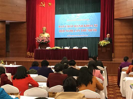 Hội nghị Ban Chấp hành Hội Liên hiệp phụ nữ Việt Nam khóa 11