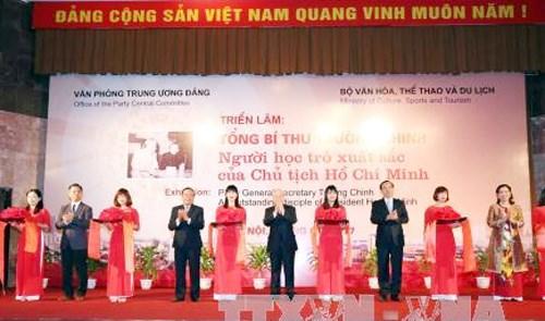"""Khai mạc Triển lãm """"Tổng Bí thư Trường Chinh - Người học trò xuất sắc của Chủ tịch Hồ Chí Minh"""""""