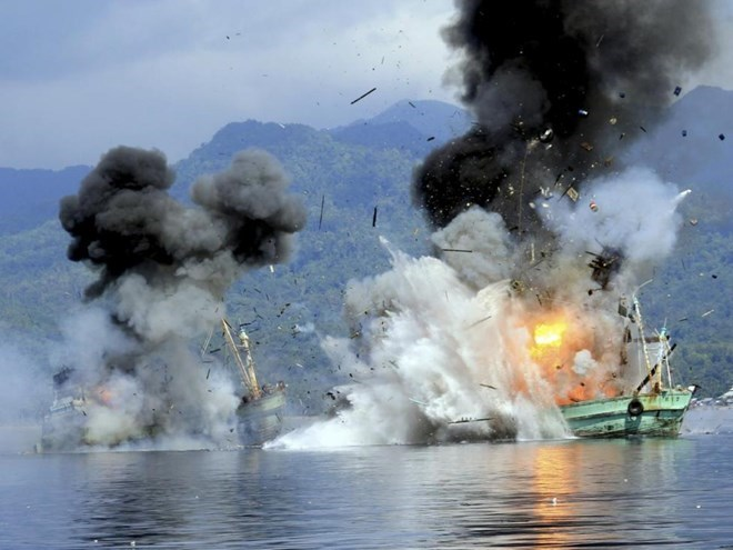 Indonesia to sink some 30 foreign vessels for illegal fishing