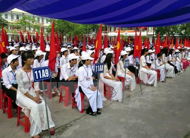 Nguyên CTN Trương Tấn Sang dự lễ khai giảng tại Trường phổ thông Duy Tân-Phú Yên